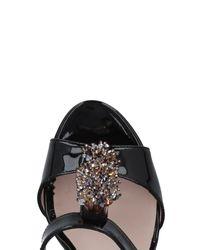 Donna Soft - Black Sandals - Lyst