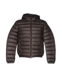 313 Tre Uno Tre Brown Down Jacket for men