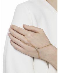 Astrid & Miyu - Metallic Fitzgerald Pyramid Hand Chain In Silver - Lyst
