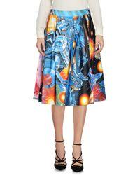 Moschino - Blue Knee Length Skirt - Lyst