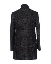 Eleventy - Black Coat - Lyst