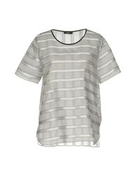 Paul Smith Black Label - Gray Blouse - Lyst