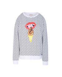 Vans - White Sweatshirt - Lyst