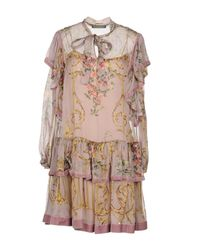 Alberta Ferretti - Multicolor Short Dresses - Lyst