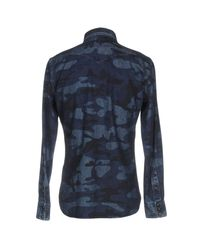 Hydrogen - Blue Denim Shirt for Men - Lyst