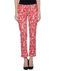 Tory Burch - Red Casual Pants - Lyst