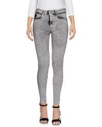 April77 - Gray Denim Pants - Lyst