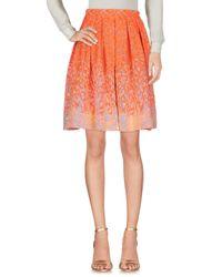 Matthew Williamson Orange Knee Length Skirt