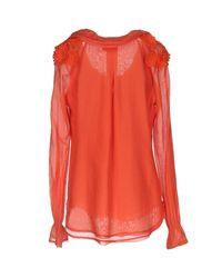 Roberta Scarpa - Orange Blouse - Lyst