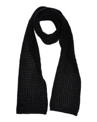 French Connection - Black Oblong Scarf - Lyst