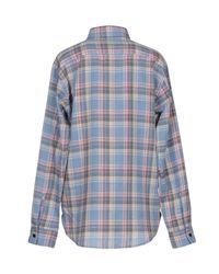Saint Laurent - Blue Shirt - Lyst
