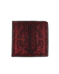 Roberto Cavalli - Red Square Scarf - Lyst