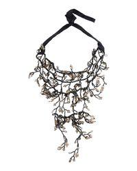 NIGHTMARKET.IT - Black Necklace - Lyst
