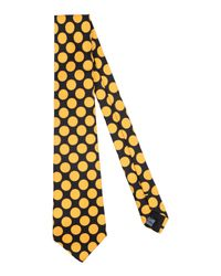 Mp Massimo Piombo Yellow Tie for men