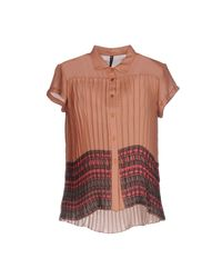 Manila Grace - Brown Shirt - Lyst
