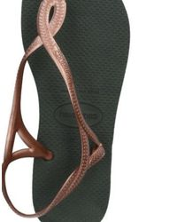 Havaianas - Brown Toe Strap Sandals - Lyst