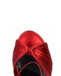 Just Cavalli - Red Sandals - Lyst