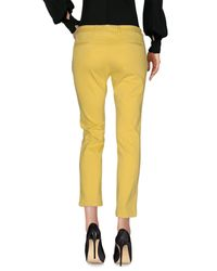 Scaglione - Yellow Casual Pants - Lyst