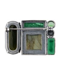 Bottega Veneta - Green Brooch - Lyst