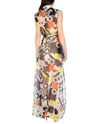 MSGM - Gray Long Dress - Lyst