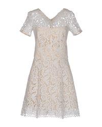 Lover - White Short Dress - Lyst