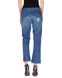 MiH Jeans - Blue Denim Trousers - Lyst