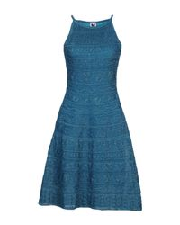 M Missoni - Blue Short Dresses - Lyst