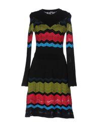 M Missoni   Black Short Dress   Lyst