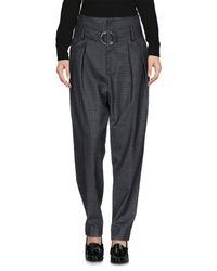 IRO - Gray Casual Pants - Lyst