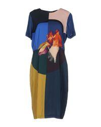 Paul Smith Black Label - Blue Knee-length Dresses - Lyst