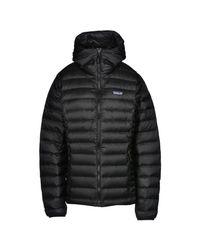 Patagonia - Black Down Jacket - Lyst