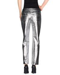 Theyskens' Theory - Metallic Casual Pants - Lyst