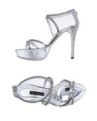 Alberto Venturini   Metallic Sandals   Lyst