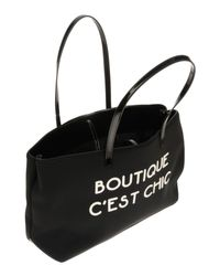 Boutique Moschino - Black Shoulder Bags - Lyst