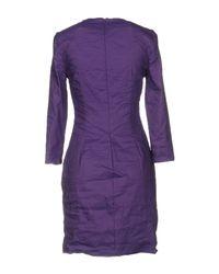 Nicole Miller Artelier - Purple Short Dress - Lyst