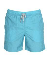 Aspesi - Blue Swimming Trunks for Men - Lyst