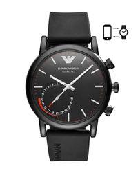 Emporio Armani - Black Smartwatch for Men - Lyst