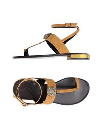 Lola Cruz - Blue Toe Strap Sandals - Lyst