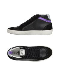 Quattrobarradodici - Black High-tops & Sneakers - Lyst