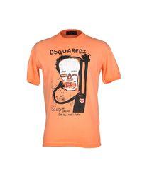 DSquared² - Orange T-shirt for Men - Lyst