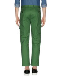 MSGM - Green Casual Pants for Men - Lyst