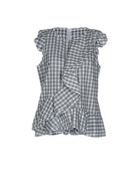 Dondup - Gray Blouse - Lyst