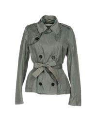 313 Tre Uno Tre - Gray Overcoat - Lyst