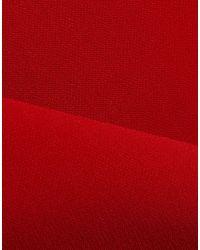 Badgley Mischka - Red Langes Kleid - Lyst