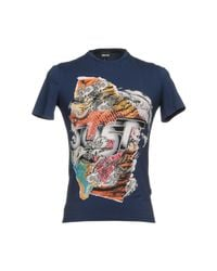 Just Cavalli - Blue T-shirt for Men - Lyst