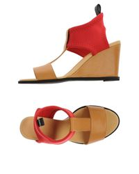 MM6 by Maison Martin Margiela - Red Sandals - Lyst