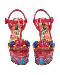 Dolce & Gabbana - Red Sandals - Lyst