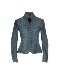 Blu Byblos - Blue Denim Outerwear - Lyst