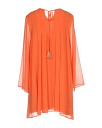 Traffic People - Orange Short Dress - Lyst