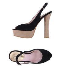 Alberto Moretti   Black Sandals   Lyst